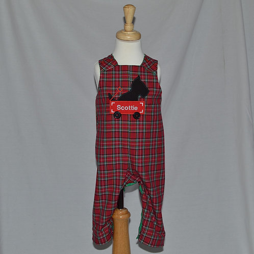 Red Plaid Reversible John John  from Bailey Boys