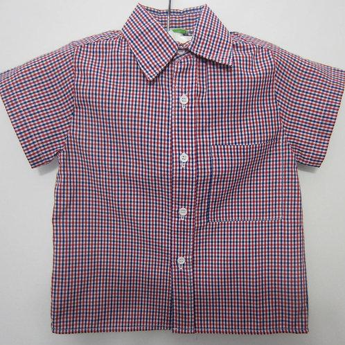 Red White & Blue Plaid Shirt   20-0156