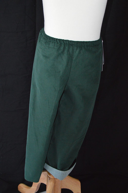 Hunter Green Corduroy Pant from Timeless Tots
