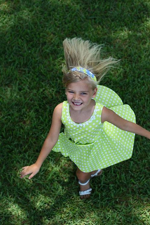 Lime Dot Little Cupcake Swing Dress 38-00398