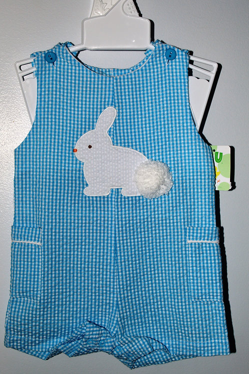Blue Seersucker Bunny Sunsuit 36-00504, 508