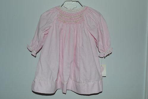 Smocked Pink Gingham LS Dress36-440,426,427