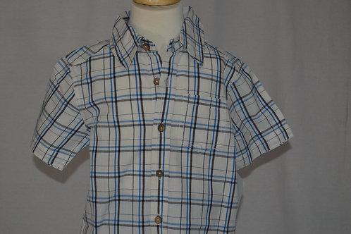 Traveler White and Blue Check Shirt 32-0303