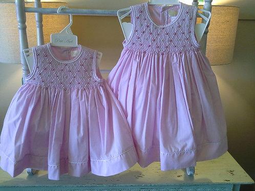 Pink Diamond Smocked Dress   36-00625