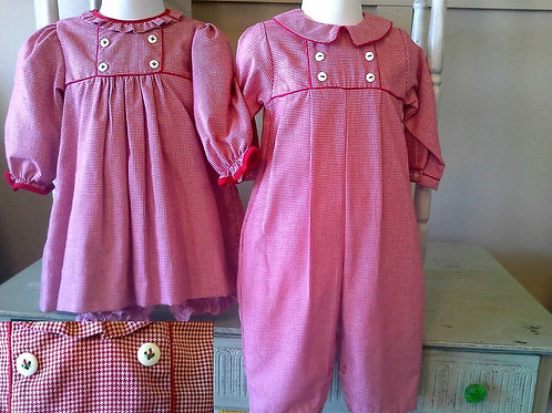 Petit Ami Red Gingham Longall 3600607