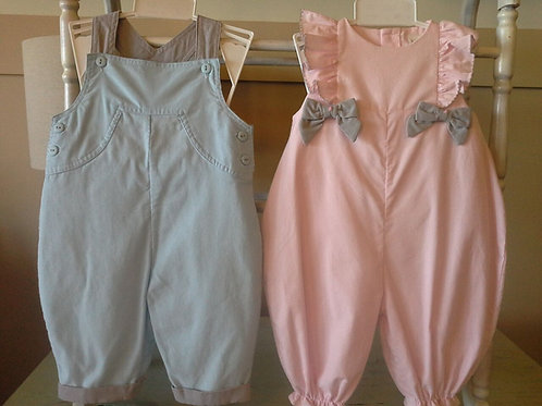 Blue Corduroy Overalls from Petit Ami  36-00600