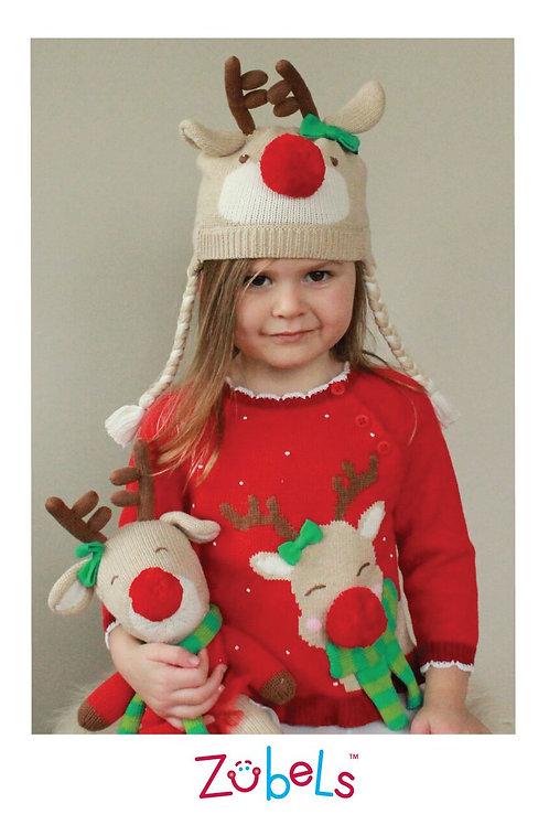 Zubels Girls Reindeer Sweater 4100610