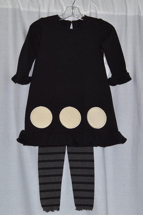 Black Kate Dress with Leggings 16-00341