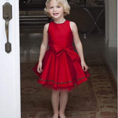 Red Cade Dress w/ Pettiskirt 16-00340