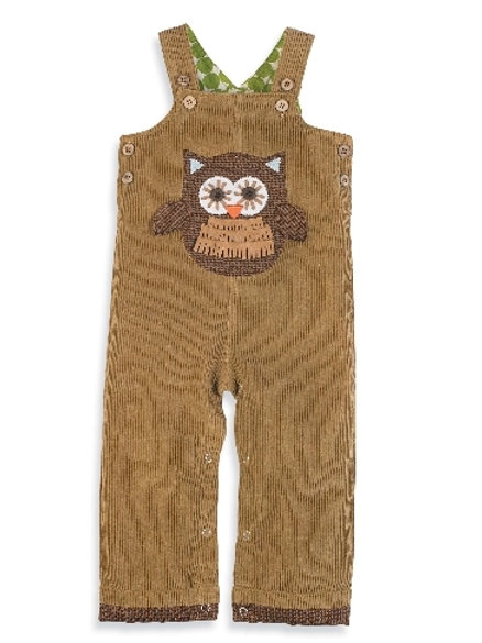 Owl Overalls by Mud Pie