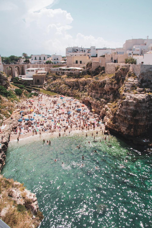 Polignano a mare Italy Ocean Lama Monachile Beach