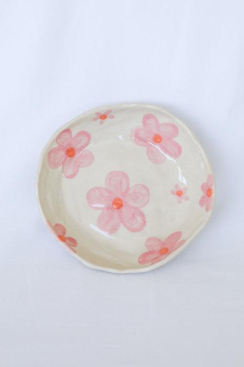 breakfast bowl - pink daisy