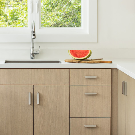 Modern Coastal Pool House Kitchen