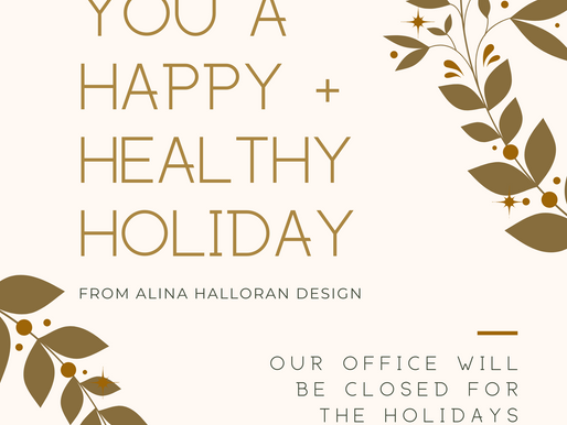 Happy Holidays and Thank You