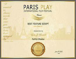 Faithful Shadow-ParisPlay-Certificate.jp