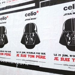 Affichage sauvage Celio x Star Wars