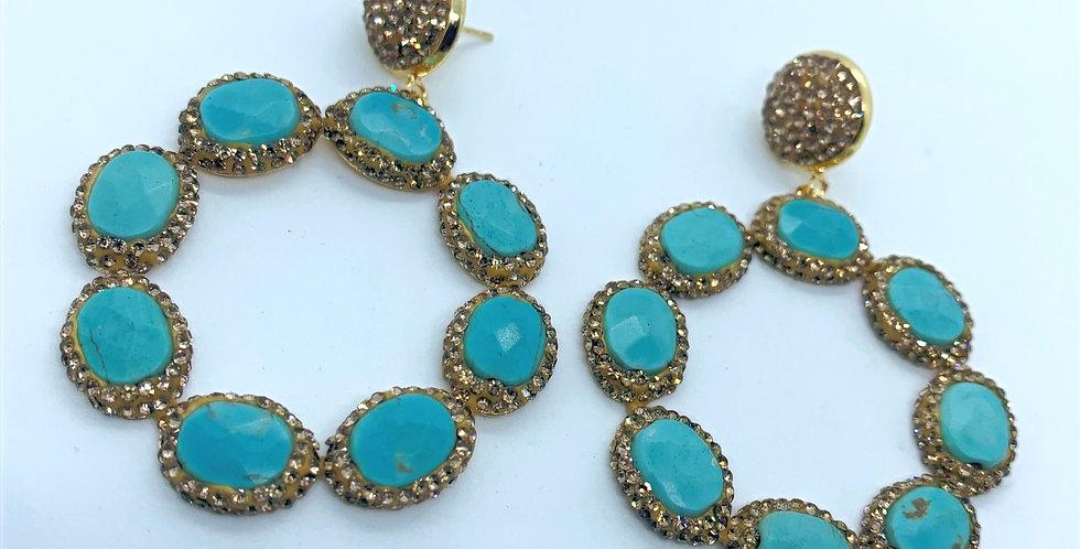 Athena Earrings- Aqua