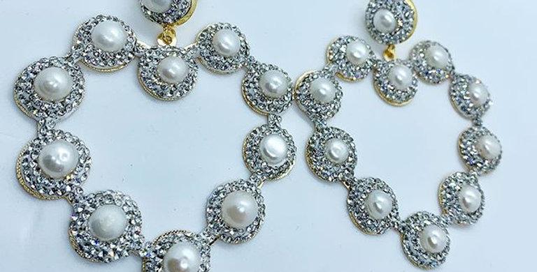 Queen of Hearts Earrings Silver