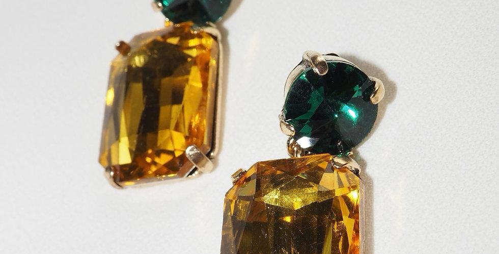Gem Luxe Earrings Yellow