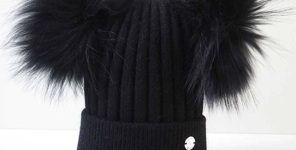 Adults Classic Double Hat Black