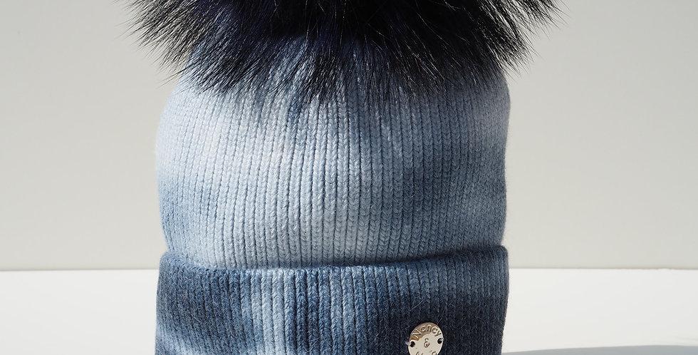 Tie Dye Single Hat Navy and Cream