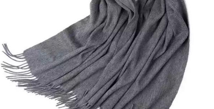 100% Wool Personalised Luxury Scarf Dark Grey