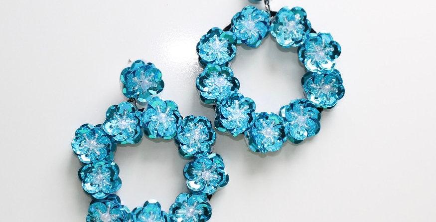 Full Bloom Earrings Blue