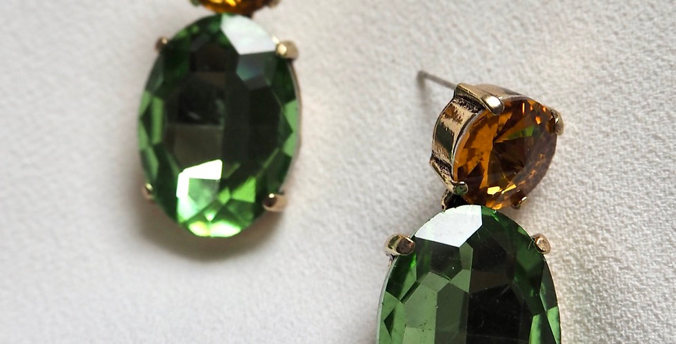 Gem Luxe Earrings Green