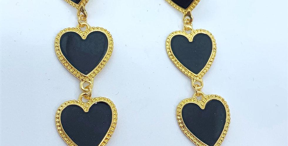 Love Earrings Black