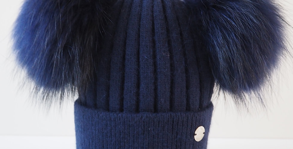 Adults Classic Double Hat Navy