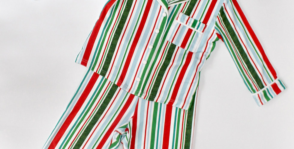 Children's Candy Cane Cotton Pyjamas