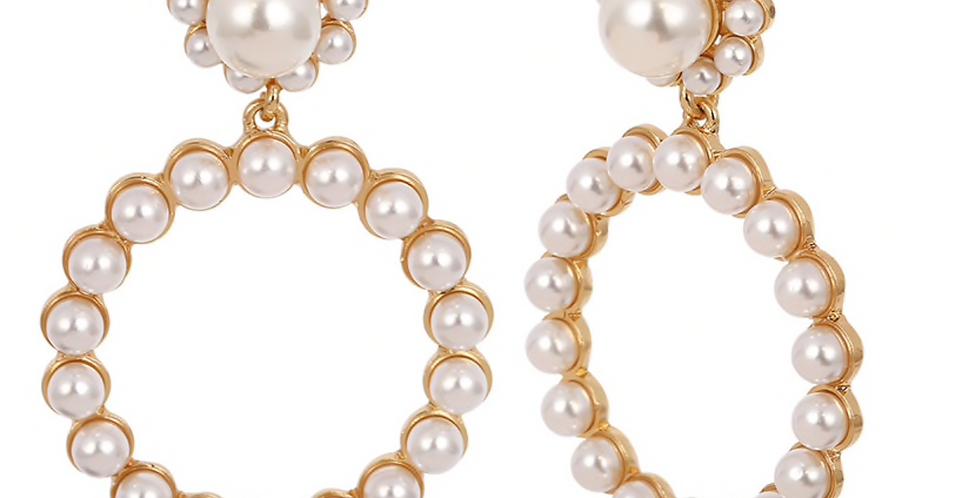 Pearl Hoops Gold