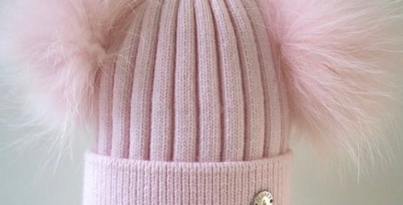 Kids Classic Double Hat- Baby Pink