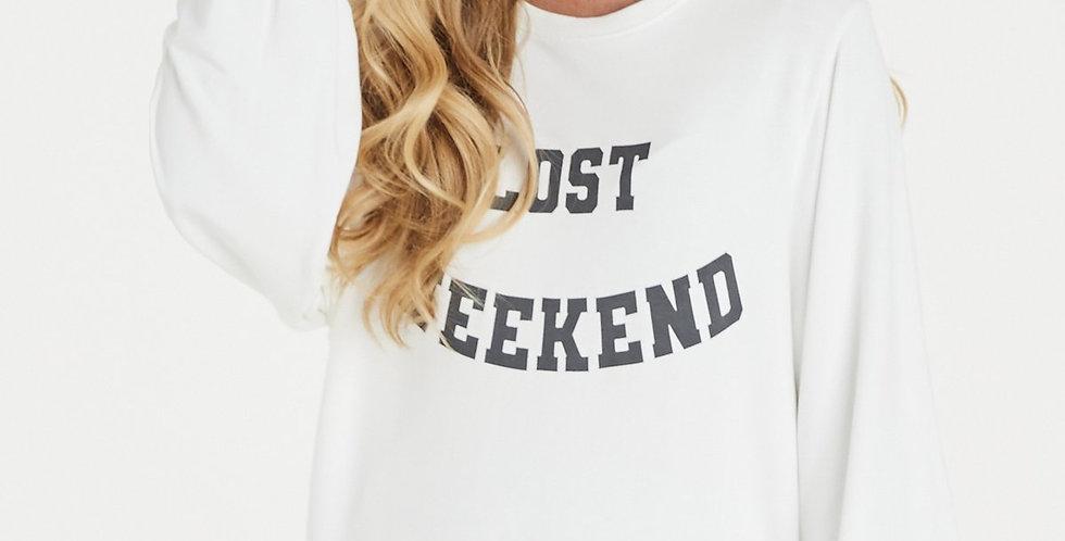 A Post Card From Brighton Lost Weekend Sweatshirt Cream