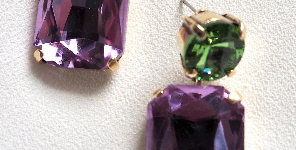 Gem Luxe Earrings Purple