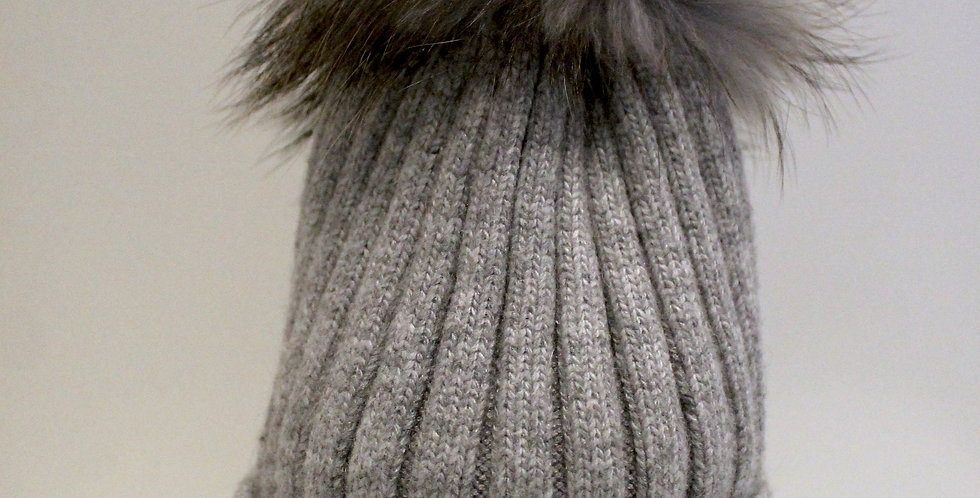 Adults Classic Single Hat Light Grey