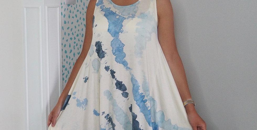 Tie Dye Splash Multiway Dress Denim Blues
