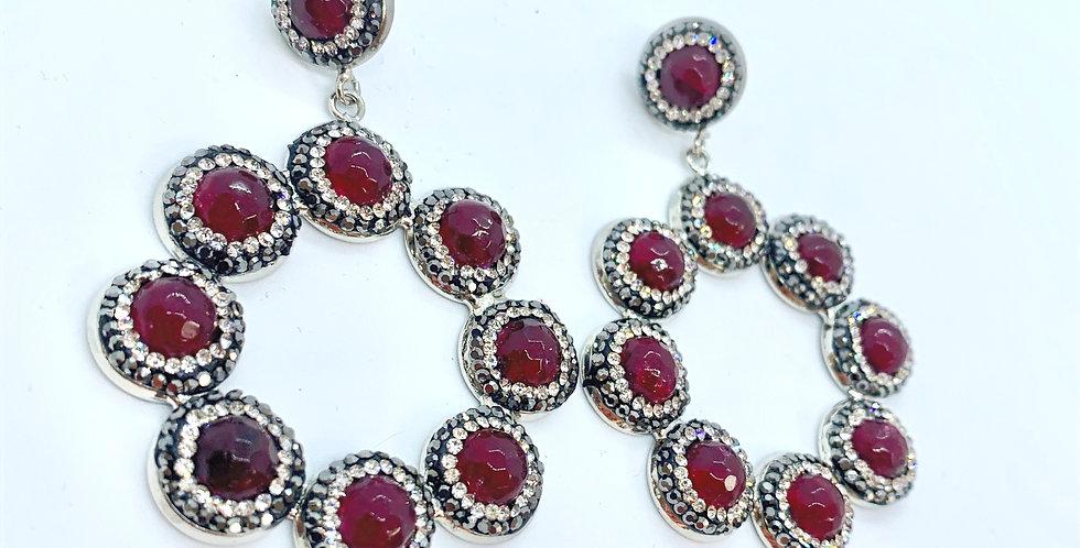 Sicily Earrings Red