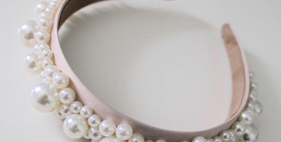 Pearl Headband - Nude