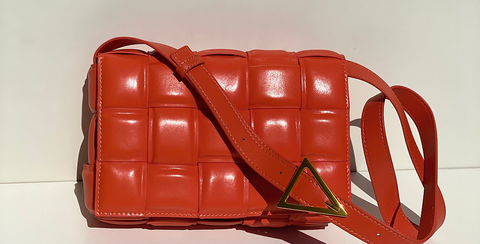 A La Mode Leather Cross Body Bag Tangerine
