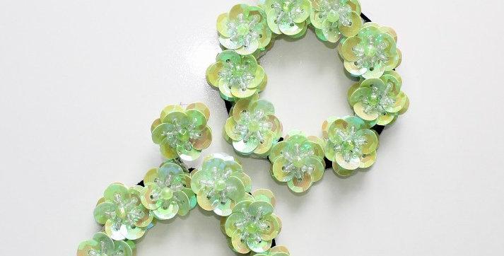 Full Bloom Earrings Green