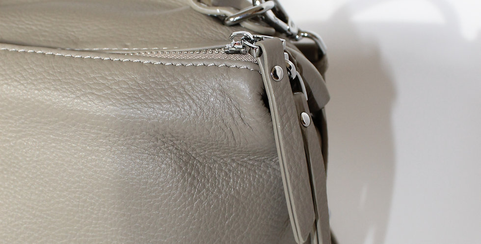 ROKA Leather Cross Body Bag Stone