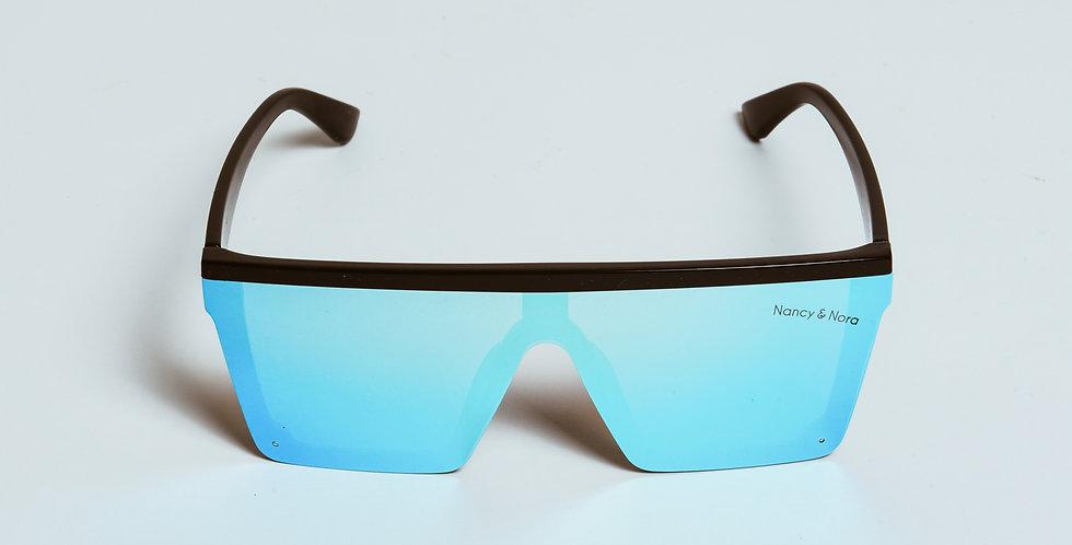 Aimee Oversized Sunglasses Blue Polarised Lens