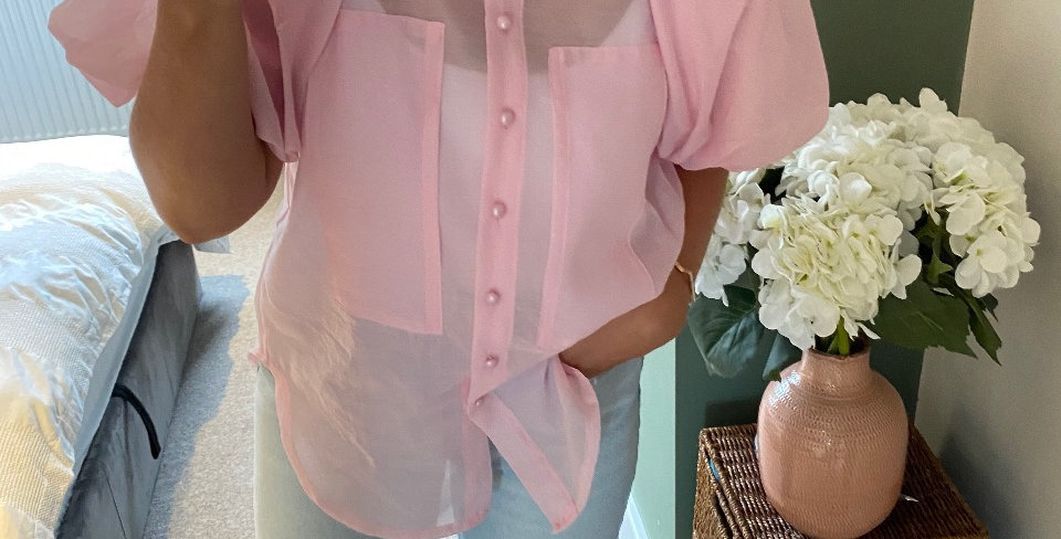 Puff Sleeve Blouse - Pink