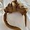 Thumbnail: Side Volume Satin Headband Toffee
