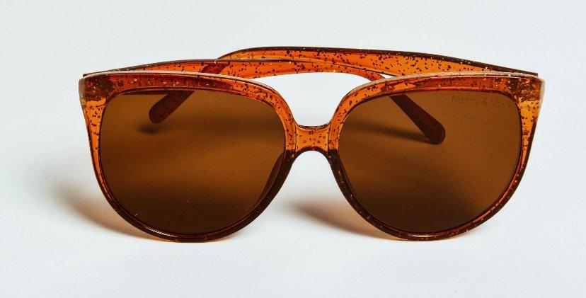 Flo Sunglasses Caramel Glitter Frame