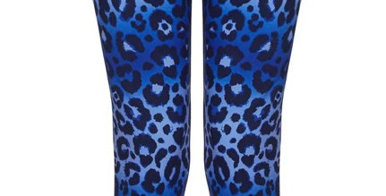 Feline Blue Leggings  - Yoga Leggs