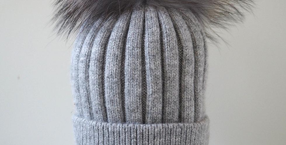 Kids Classic Single Hat Light Grey