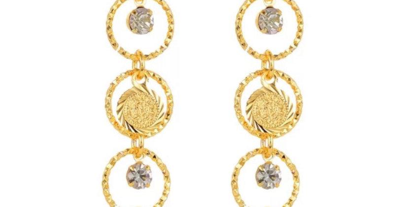 Ariya Gold Drop Earrings