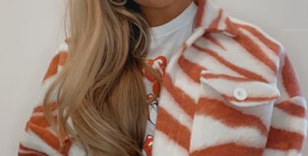 Zebra Print Marantt Jacket Orange / Red
